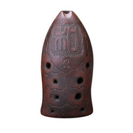 Buy Professional Carved Xun Flute Chinese Ancient Instrument Fish Pattern Ocarina 10 Holes