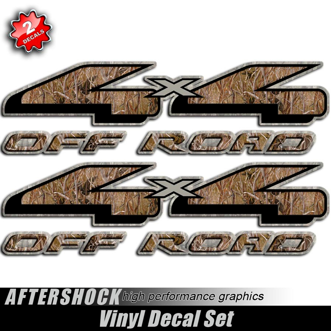 4x4 duck grass camo hunting decals