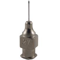 "Hypodermic Needles 27g x 3/8"" Plated Brass Hub (Box of 12)"