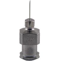 "Hypodermic Needles 32g x 1/4"" Plated Brass Hub (Box of 12)"