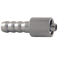 MLL (Fluted) to 6mm Hose End (Plated Brass) (Individual)