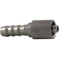MLL (Fluted) to 6mm Hose End (Stainless Steel) (Individual)