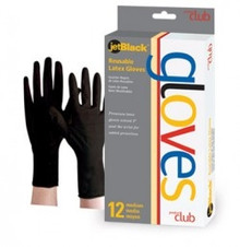 Product Club Black Reusable Latex Gloves - Box