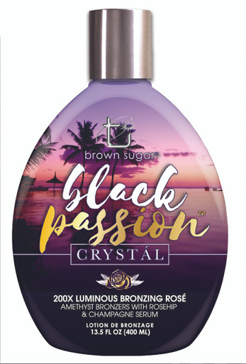 Tan Inc. Brown Sugar Black Crystal Tanning Lotion with Bronzers. 13.5 fl oz