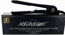 "Midnight 1.25"" Hair Straightener with 100% Ceramic Plates by Relaxus Beauty"