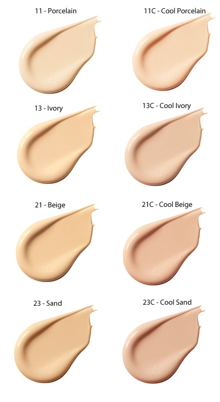 Laneige BB Cushion Shades Image