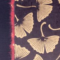 Black Ginkgo Leaf