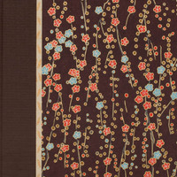 Brown Cherry Blossom Sketchbook