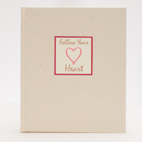 Medium Sketchbook in  Linen and Heart