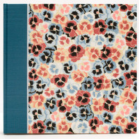 Photo Album in Blue Pansies with black pages