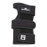 Brunswick Shot Repeater X Left Hand  The Brunswick Shot Repeater X is an extended wrist positioner. This support helps keep your wrist positioned so you can repeat your shot over and over. This wrist support has metal inserts for the front and back that keep your wrist locked in place and the lightweight fabric used helps absorb moisture.  LEFT HAND  Color: Black Promotes proper wrist position Designed to improve shot repeating ability Metal inserts on front and back provide support and lock wrist in place Light weight fabric increases moisture absorption Three strap design for a confident and comfortable fit Extended version for even more support SKU: BRU56B40701LH Product ID: 10228