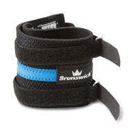 Brunswick Pro Wrist Support  The Brunswick Pro Wrist Support is great for bowlers needing extra support to strengthen their wrist during play. This support uses latex foam material for increased comfort. This device is easy to put on and take off and has two velcro straps that help increase its durability.  Color: Black/Blue Latex foam construction for comfort Two Velcro straps increase durability Easy to put on and to remove. SKU: BRU56B40404 Product ID: 10231