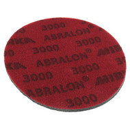"""Abralon Sanding Pad 3000 Grit  Do you need to sand your ball down to a different finish? If so this could be the perfect sanding pad for you. This is a 3,000 Grit sanding pad. It can be used wet, or dry. It works great with Powerhouse Ball Resurface Kit. This sanding pad will last 5 times longer than sand paper.  For deepest scratches Cosmetically appealing, consistent scratch pattern provides excellent traction Combines the benefits of abrasive cloth and non-woven products Opening in the fabric allows water to flow freely around the abrasive Resists """"caking""""Foam center holds large amounts of water for lubrication and cooling Solid surface and foam backing provide even surface pressure Last 5+ times longer than sandpaper Use wet or dry (residual material can be removed by high pressure air)Works great on our Powerhouse Ball Resurfacer SKU: CLA2413000 Product ID: 7825"""