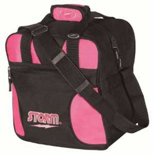 """Storm's newest Single Ball Tote bag that holds shoes as well.  600 Denier Polyvinyl Fabric Accessory Storage Pocket Internal Shoe Pockets Accept up to U.S. Men's Size 15 Adjustable Non-Slip Shoulder Strap Reinforced Zippers & Stitching Foam Base 2-Color Embroidered Logos Dimensions: W:12"""" x D:11"""" x H:13""""  1-Year Warranty"""