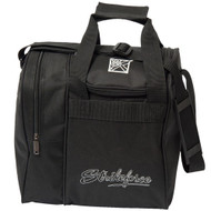 """KR Rook Single Tote is an awesome single tote that includes separate space for your ball and your shoes. This bag is offered in a wide variety of colors.  Color: BlackAdjustable shoulder strap.Zippered, side shoe compartment holds up to size 11.Foam ball insert.Dimensions: 11.5""""W x 12""""D x 12""""H"""
