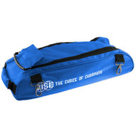 """The Vise Add-On bag can be used to attach to the Vise 3 Ball """"Clear Top"""" Tote Roller. This bag has clips that allow it to attach to the Vise Roller/Tote for easy transport. The large size of the bag allows it to accommodate varying sizes of shoes. This add-on bag also helps traveling come easier.  Designed with 1680 durable denier matt (nylon) fabricClips on the to the Vise 3 Ball """"Clear Top"""" Tote RollerLarge storage area to fit varying shoe sizesDurable zippersReinforced stitching5-year limited manufacturer's warranty"""