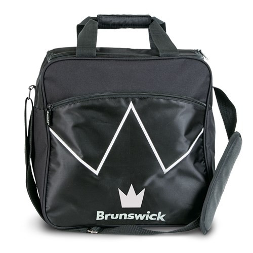 The Brunswick Blitz Single Tote is a convenient tote for you if you are needing something for your ball and a place to store your shoes. This bag also features a front zippered accessory pocket for your bowling accessories!  Color: BlackPadded, adjustable shoulder strapFront zippered accessory pocketShoe ShelfHolds up to size 14 shoesRemovable foam ball holderEmbroidered logos600D / 840D FabricsEmbroidered logosWarranty: 2 year limited manufacturer's warranty