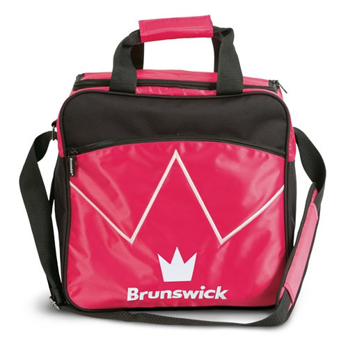 The Brunswick Blitz Single Tote is a convenient tote for you if you are needing something for your ball and a place to store your shoes. This bag also features a front zippered accessory pocket for your bowling accessories!  Color: Hot PinkPadded, adjustable shoulder strapFront zippered accessory pocketShoe ShelfHolds up to size 14 shoesRemovable foam ball holderEmbroidered logos600D / 840D FabricsEmbroidered logosWarranty: 2 year limited manufacturer's warranty