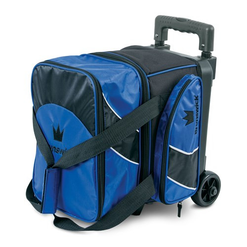 The Brunswick Edge Single Roller is perfect for those that are on the go all the time. This roller features a large zippered pocket to store your bowling accessories and it has a shoe compartment that stores shoes up to a size 12. Brunswick offers a 5 year limited manufacturer's warranty.  Color: BlueRetractable and locking handle system3.5 inch wheelsLarge side zippered pocketHolds up to size 12 shoesEmbroidered logos600D / 840D FabricsWarranty: 5 year limited manufacturer's warranty