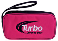"""Turbo Driven to Bowl Mini Accessory Case is the case for you and all of your accessories! Get this mini case today and never lose your accessories again!  Color: PinkEmbroidered Driven to Bowl logoSingle zipper openingCarry strapApproximate size: 8"""" x 4.5""""w x 2""""d"""