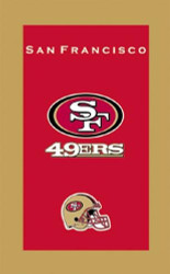 "NFL San Francisco 49ers Towel  Colorful designs16"" x 26"" velour towelIndividually packaged"