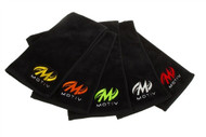 100% cotton plush towel , Embroidered MOTIV™ logo , Hemmed edge , 5 logo color options available, each sold separately  100% cotton Black plush towelEmbroidered MOTIV™ logoHemmed edge5 Logo color options available, each sold separately