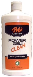 Motiv Power Gel Clean 16 oz.  An incredibly effective ball cleaning gel the Motiv Power Gel Clean 16 oz.is USBC tested and is acceptable for use anytime. Utilizing powerful degreasing agents to remove marks, dirt, lane oil, and grime from the bowling ball surface this gel works harder and longer to restore ball performance. The gel's Low VOC Power Gel® Clean formulation is biodegradable and formulated with natural solvents, making it an environmentally responsible ball cleaning solution.  Available in 16oz. squeeze bottleSKU: TLMTVPGC16Product ID: 5549