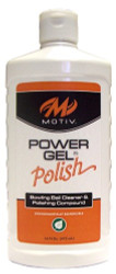 Motiv Power Gel Polish 16 oz.  This is a ball cleaner and polish all in one formulation, which is designed to remove marks, dirt, lane oil, and grime, as well as create a rich luster on any bowling ball. The final result is lower surface friction and increased cover stock length. The Low VOC Power Gel® Polish formulation is biodegradable and utilizes natural solvents, making it an environmentally responsible ball polishing solution  Available in 16oz. squeeze bottleSKU: TLMTVPGP16Product ID: 5547