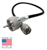 12-Inch UHF-Male PL-259 to Mini-UHF-Male Coaxial Cable Assembly