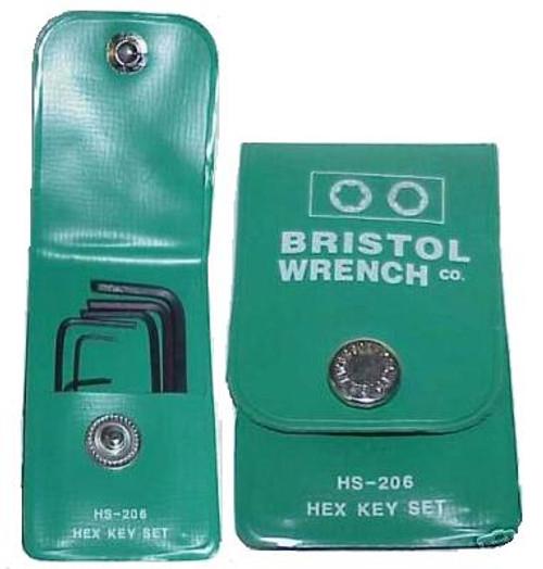 Bristol HS-206 Hex Wrench Set
