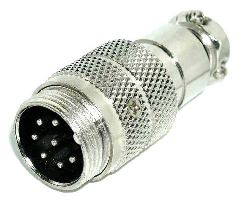 7-Pin - Microphone & Electrical Cable Connector - Male Plug