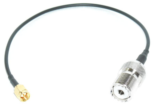 10 Inch | SMA-Male to UHF-Female Coax Cable Pigtail for Wouxun KG-UV6D