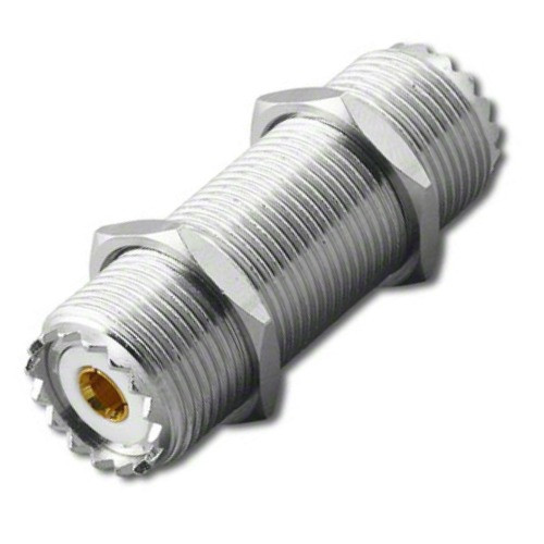 12-Inch - UHF-Female SO-239 Bulkhead Coaxial Connector