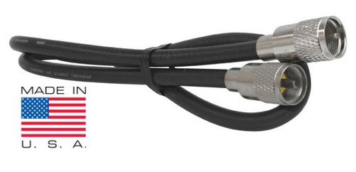 12-Foot RG-8 Coaxial Cable Assembly Low-Loss 97% Shield PL-259 RG8U