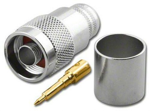 Type N-Male Plug Coaxial Crimp Connector for LMR-600