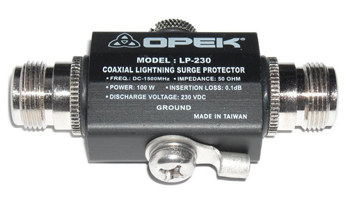 OPEK LP-230A - Arc-Gas Lightning Transient Voltage Surge Protector