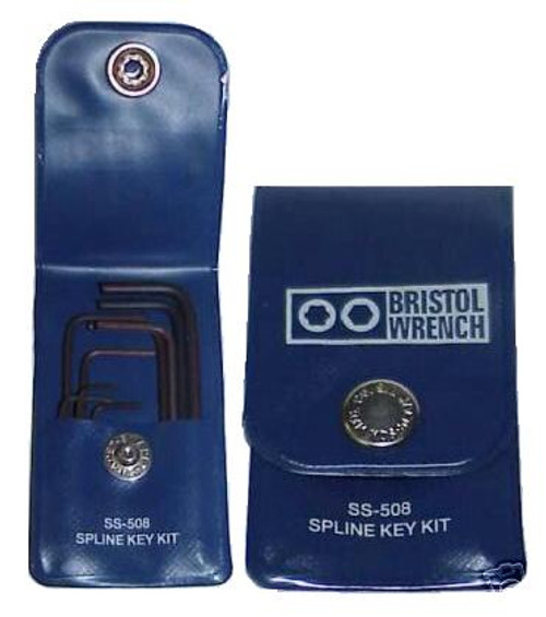 Bristol SS-508 - 9-Piece Spline Key Wrench Tool Set for Collins Radios