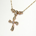 Stunning Hand made Nacklace, Diamond Set Cross with chain,1453