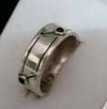 Ster/Silver Male Ring,  Black Onyx  O-2084