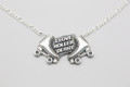 Sterling Silver Roller Derby Pendant on a sterling silver chain