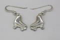 Sterling Silver Roller Derby Drop Earrings
