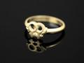 9ct Gold Female Gender Symbol Ring(nominate colours) G-74-1033