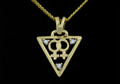 9ct Gold Female Gender 3 x Diamond Necklat on G/P chain