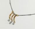 9ct Two Tone Fancy Dress Diamond necklace 1486