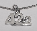 Silver 42.2 Necklat with 1602 St/set