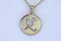 9ct  Gold (AUS REP ONLY) Hockey  Pendant  G-2251