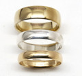Rounded Wedding Band Choose width& colour