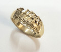 9ctGold Dragon Boat Ring - sizes K & N