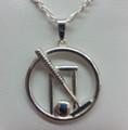 Silver Croquet pendant & Chain