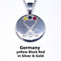 GERMANY REP Pendant, stone set - Silver or Gold